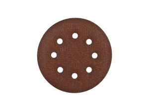 Шлифкруг 1шт. Velcro Стандарт Зубр d=150мм, K 80, 6 отв.