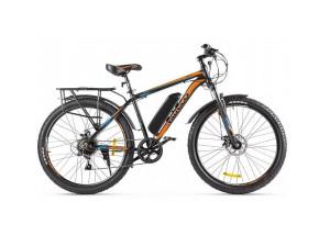 Электровелосипед (велогибрид) сине-оранжевый Eltreco XT 800 new